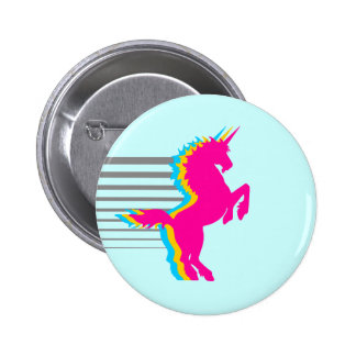 COREY TIGER 1980s RETRO VINTAGE UNICORN Pinback Buttons