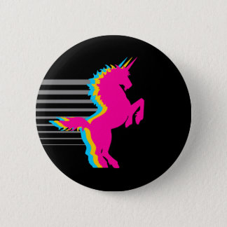 COREY TIGER 1980s RETRO VINTAGE UNICORN Pinback Button