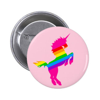 COREY TIGER 1980s RETRO VINTAGE UNICORN RAINBOW Button