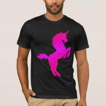COREY TIGER 1980s RETRO VINTAGE UNICORN STARS PINK T-Shirt