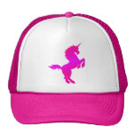 COREY TIGER 1980s RETRO VINTAGE UNICORN STARS PINK Trucker Hat