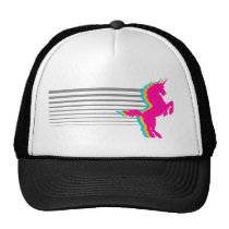 Corey Tiger 1980S Retro Vintage Unicorn Trucker Hat
