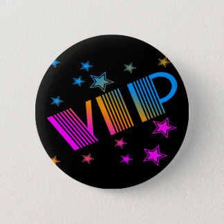 COREY TIGER 1980s RETRO VIP STARS Button