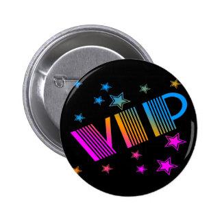 COREY TIGER 1980s RETRO VIP STARS Button
