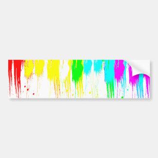 Corey Tiger 1980s Vintage Paint Drip Bumper Sticker