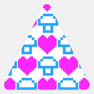 Corey Tiger 80s 8-bit Mushrooms Hearts Stickers