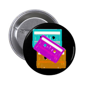 Corey Tiger 80s Cassette Tapes Pin