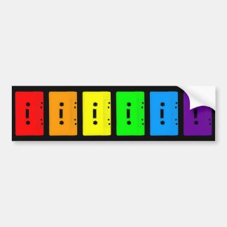 Corey Tiger 80s Cassette Tapes Rainbow Bumper Stickers