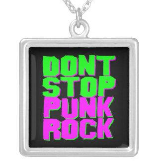 Corey Tiger 80s Don't Stop Punk Rock Necklace