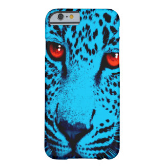 Corey Tiger 80s Leopard Face (Blue) Barely There iPhone 6 Case
