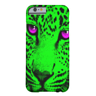 Corey Tiger 80s Leopard Face (Green) Barely There iPhone 6 Case
