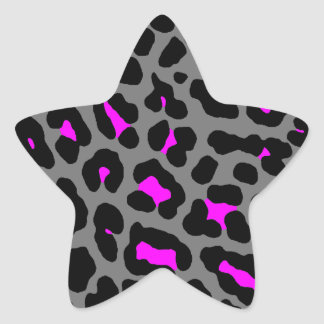 Corey Tiger 80s Leopard Spots (Gray) Stickers