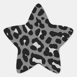 Corey Tiger 80s Leopard Spots (Gray) Star Stickers