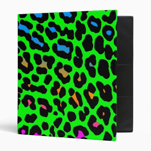 Corey Tiger 80s Leopard Spots (Green) Binder