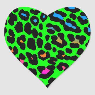Corey Tiger 80s Leopard Spots (Green) Sticker