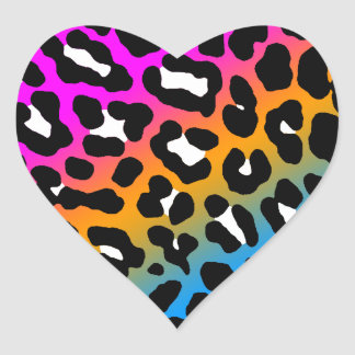 Corey Tiger 80s Leopard Spots (Multicolor) Sticker
