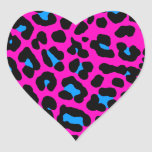Corey Tiger 80s Leopard Spots (Pink) Stickers