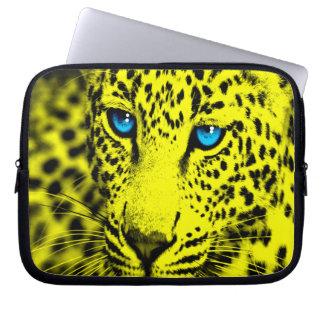 Corey Tiger 80s Leopard (Yellow) Computer Sleeve