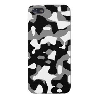 Corey Tiger 80s Neon Camo (Gray Snow) Case For iPhone SE/5/5s