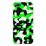 Corey Tiger 80s Neon Camo (Green) iPhone 5 Covers