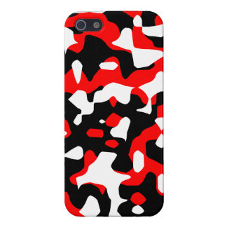 Corey Tiger 80s Neon Camo (Red) iPhone SE/5/5s Cover