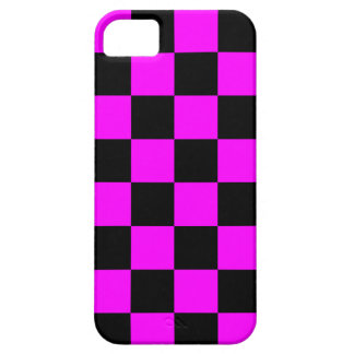 Corey Tiger 80s Neon Checkerboard (Fuschia Pink) iPhone SE/5/5s Case