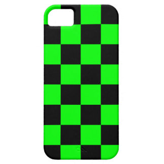 Corey Tiger 80s Neon Checkerboard (Green) iPhone SE/5/5s Case