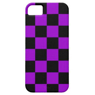 Corey Tiger 80s Neon Checkerboard (Purple) iPhone SE/5/5s Case