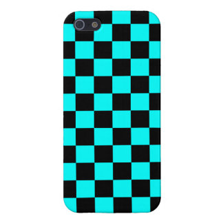 Corey Tiger 80s Neon Checkerboard (Teal Blue) iPhone SE/5/5s Case