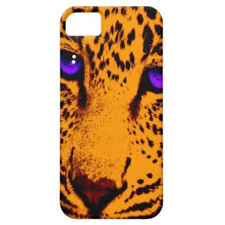 Corey Tiger 80s Neon Leopard Face (Green) iPhone SE/5/5s Case