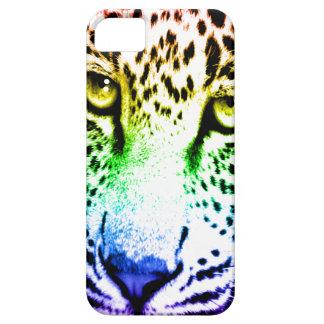 Corey Tiger 80s Neon Leopard Face (Rainbow) iPhone SE/5/5s Case