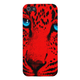 Corey Tiger 80s Neon Leopard Face (Red) Case For iPhone SE/5/5s