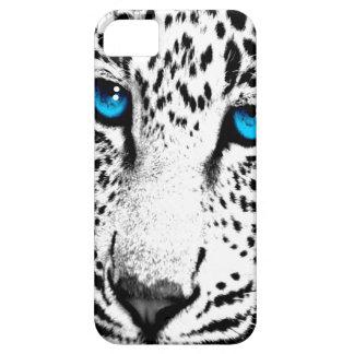 Corey Tiger 80s Neon Leopard Face (White Snow) iPhone SE/5/5s Case
