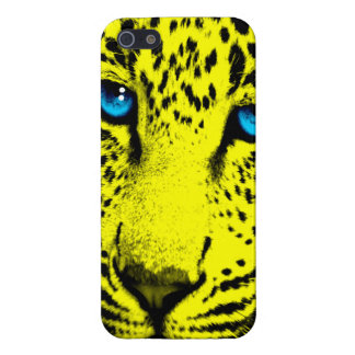 Corey Tiger 80s Neon Leopard Face (Yellow) Case For iPhone SE/5/5s