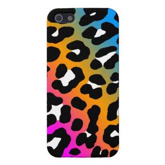 Corey Tiger 80s Neon Leopard Spots (Sherbet Multi) iPhone SE/5/5s Case