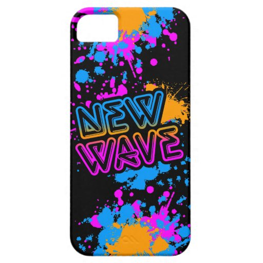 Corey Tiger 80s Neon New Wave Paint Spaltter iPhone 5 Case