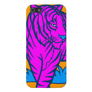 Corey Tiger 80s Neon Pink Tiger iPhone SE/5/5s Cover