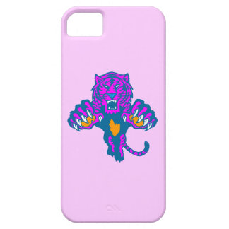 Corey Tiger 80s Neon Pouncing Tiger (Pink) iPhone SE/5/5s Case