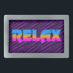 """Corey Tiger 80s Neon Relax Rectangular Belt Buckle<br><div class=""""desc"""">Just one of many designs available on a wide array of quality products.        Search Items By Color       Other Corey Tiger Designs</div>"""