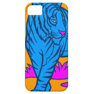 Corey Tiger 80s Neon Tiger (Blue) iPhone SE/5/5s Case