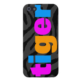 Corey Tiger 80s Neon Tiger Letters Cover For iPhone SE/5/5s