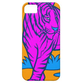 Corey Tiger 80s Neon Tiger (Pink) iPhone SE/5/5s Case