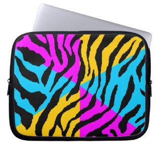 Corey Tiger 80s Neon Tiger Print Laptop Sleeve