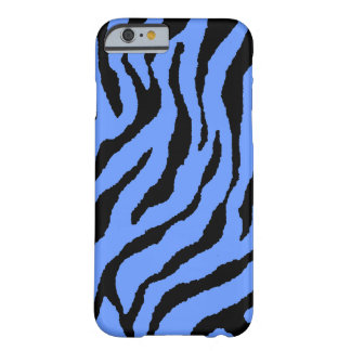 Corey Tiger 80s Neon Tiger Stripes (Blue+Black) Barely There iPhone 6 Case