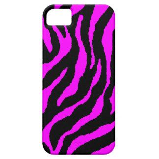 Corey Tiger 80s Neon Tiger Stripes (Fuschia Pink) iPhone SE/5/5s Case