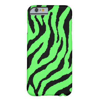 Corey Tiger 80s Neon Tiger Stripes (Green+Black) Barely There iPhone 6 Case