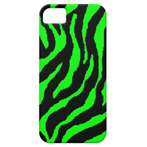 Corey Tiger 80s Neon Tiger Stripes (Green) iPhone 5 Cover