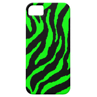 Corey Tiger 80s Neon Tiger Stripes (Green) iPhone SE/5/5s Case