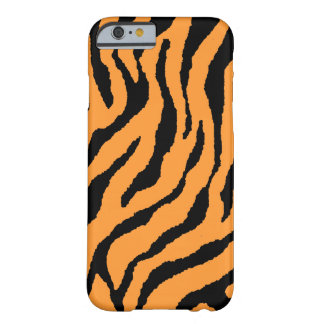 Corey Tiger 80s Neon Tiger Stripes (Orange+Black) Barely There iPhone 6 Case