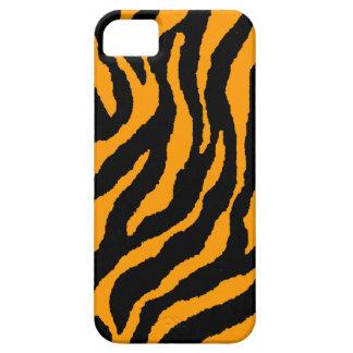 Corey Tiger 80s Neon Tiger Stripes (Orange) iPhone SE/5/5s Case
